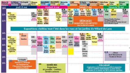 FOCALES en Vercors planning
